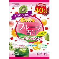 Yuwa Вкусный фруктовый зеленый сок Коллаген и плацента 3 г х 40 пакетов