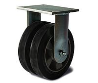 Колеса сдвоенные усиленные неповоротные 20 14x2 160 ШФ из эластичной резины, нагрузка 700 кг