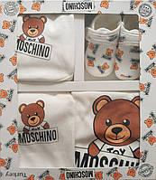 Moschino, набор для новорожденного, 5 предметов, фото 1