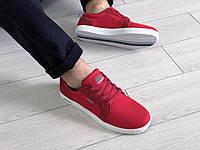 Мужские кеды Lacoste красные