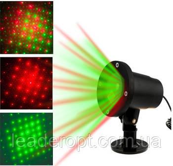 Лазерний зоряний проектор точковий для прикраси будинку Star shower laser light ОПТ