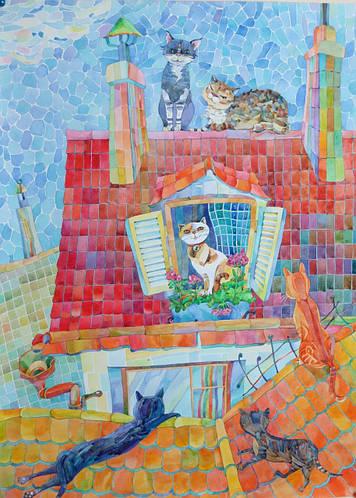 Картина акварель 11