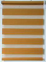 Готовые рулонные шторы Ткань ВМ-1210 Охра 750*1300