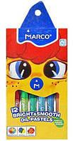 Пастель масляная 12 цветов MARCO 1100OP-12CB