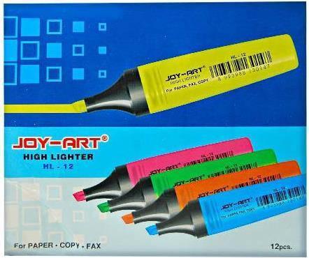 """Маркер текстовыделитель 5 цветов   """"Joy-Art """" F-413/HL-12, фото 2"""