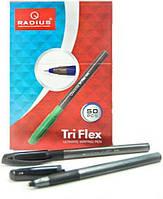 Ручка шариковая Tri Flex PL корпус grey metalic (черная)