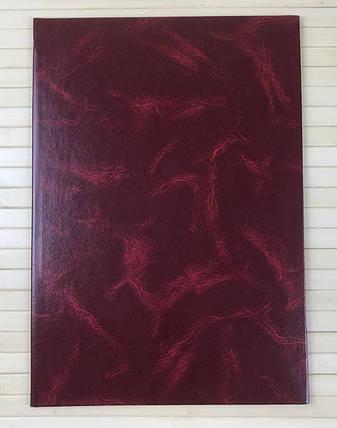 Папка адресная А4+, бордо, бумвинил, Скат, фото 2