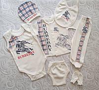 Подарочный набор для новорожденного Burberry,7 предметов., фото 1