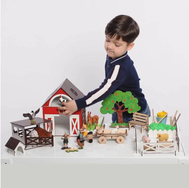 """Кукольный домик - игровой набор """"ФЕРМА"""" NestWood (комплектация MAXI)"""
