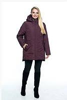 Женская куртка удобная стильная демисезонная большого размера 54-70 р марсал, малахит,  мята, синий цвет