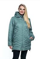Женская куртка удобная стильная демисезонная большого размера 54-70 р мята,  малахит, марсал, синий цвет