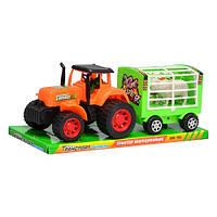 Трактор игрушечный 906-102 инерционный, Bambi