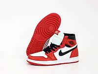 Мужские кроссовки Nike Air Jordan, кожа (ТОП-реплика)