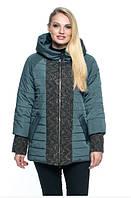 Женская куртка удобная стильная демисезонная большого размера 46-62 р марсал, пудра, жемчуг, синий  цвет