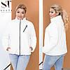 Женская удобная весенняя куртка на змейке с воротом стойкой, норма и батал большой размер, фото 4
