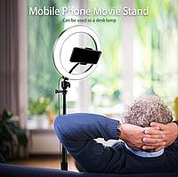 Кольцевая лампа для блогеров  (26 см. диаметр) + штатив(110см)Puluz