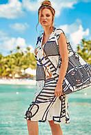 Женская пляжная туника для полных David DB20-022 44(M) Полосатый David DB20-022