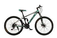 """Велосипед Oskar 26"""" S203 черно-бирюзовый"""