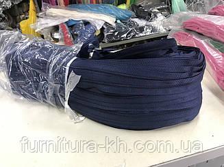 Спираль Тип-5-Цвет Темно Синий.Молния рулонная -В рулоне  200 метров.