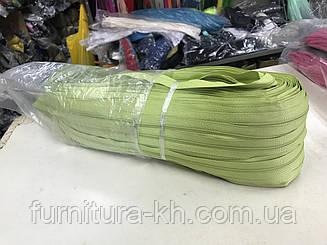 Спираль Тип-5-Цвет Салатовый.Молния рулонная -В рулоне  200 метров.