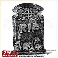 Надгробная плита RIP Кельтский крест - карнавальное украшение на Хэллоуин.
