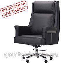 Кресло FRANKLIN BLACK черная кожа AMF (бесплатная адресная доставка)