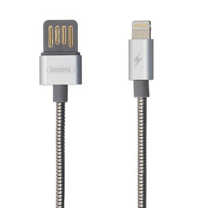Lightning кабель 1 м Serpent серебро Remax RC-080i, фото 2