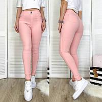 0931-13 розовые Flnn джеггинсы летние стрейчевые (25-30, 6 ед.), фото 1