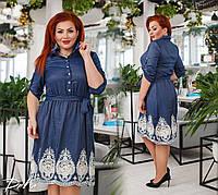 Платье женское нарядное джинсовое с 42 по 56 р.  /д41230, фото 1