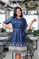 Платье женское нарядное джинсовое с 42 по 56 р. /д41228, фото 1