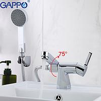 Змішувач для раковини з гігієнічним душем хром Gappo Chanel G1204
