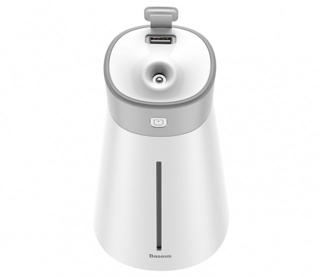 Зволожувач повітря Baseus DHMY-B02 Slim Waist Humidifier + USB Лампа/Вентилятор Білий