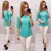 Блуза / блузка арт. 830 бирюзовая / бирюза / бирюзового цвета, фото 1