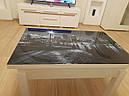 Стол трансформер Флай  венге  с черным стеклом , журнально-обеденный, фото 5