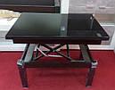 Стол трансформер Флай  венге  с черным стеклом , журнально-обеденный, фото 2