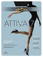 Плотные прозрачные утягивающие колготки OMSA Attiva 70