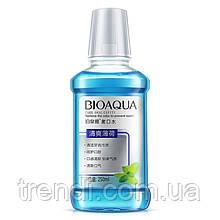 Рідина для полоскання рота з м'ятою Bioaqua, 250 мл