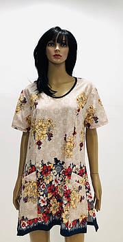 Трикотажная блуза рельеф больших размеров 54-68р.р..