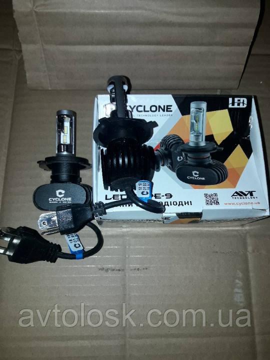 LED-Н4 CYCLONE (4000LM)радіатор.9-32 вольт.