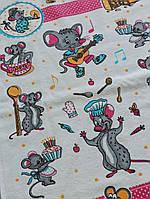 Махровые полотенца 40*70см сбахромой Мышата, Турция