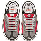 Шнурки силиконовые для обуви яркие модные разноцветные растягивающиеся Good-bye tir ОПТ, фото 2