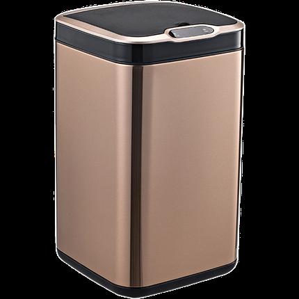 Сенсорне відро для сміття JAH 13 л (квадратна, колір рожеве золото, внутрішнє відро), фото 2