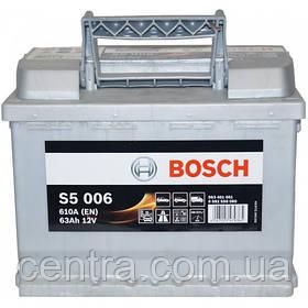 Автомобильный аккумулятор Bosch 6CT-63 L+ S5 (S5 006) 0092S50050