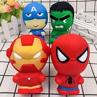 Сквиш - супергерои, человек паук, Халк, капитан Америка, железный человек.