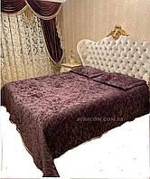 Велюровое, фиолетовое,  покрывало с наволочками, Miss Bella,Турция