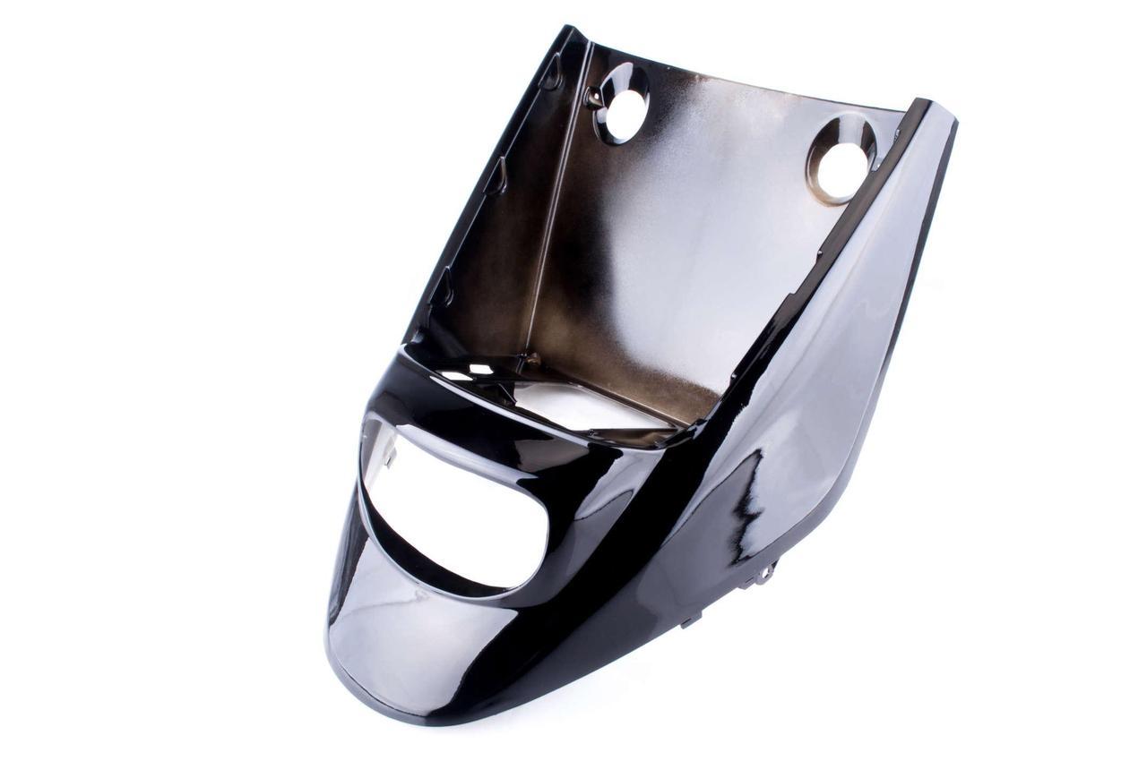 Пластик Ямаха (Yamaha) Джог (JOG)  Поше (POSHE) передний (клюв) (черный) KOMATCU