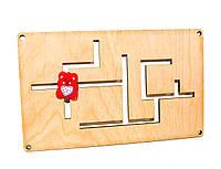 Заготовка Деревянный Лабиринт для Бизиборда + Бегунок дерев'яний лабіринт для бізіборда для бизи борда 010341, фото 1