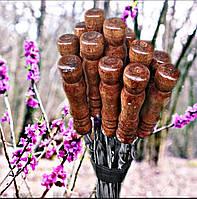 Шампура с деревянной ручкой ручной работы, 75 см