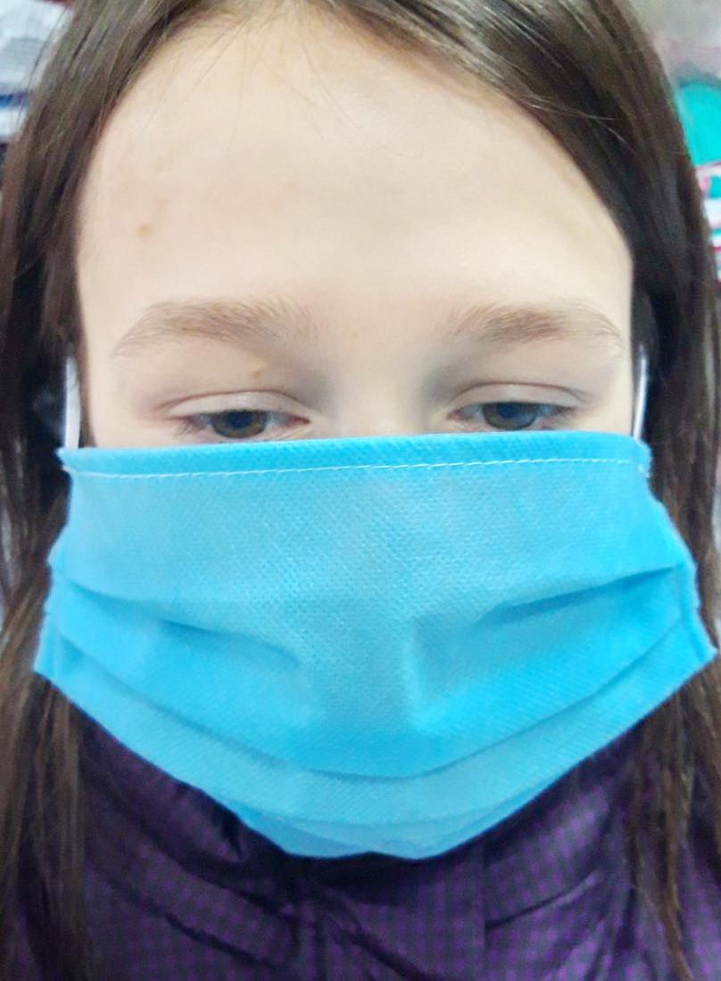 ЗАЩИТНАЯ повязка, Защитная маска. Трёхслойная.