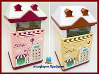 Копилка с кодовым замком детская игрушка копилка сейф с отпечатком пальца и ультрафиолетом дом my strongbox
